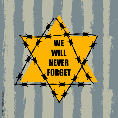 Fotografia, Obraz Holocaust Remembrance Day. January 27. Vector illustration