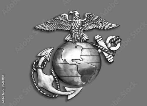 Poster Aigle Marine Eagle ,Globe and Anchor.