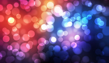 Colorful Bokeh Abstract Illustration Graphic Background