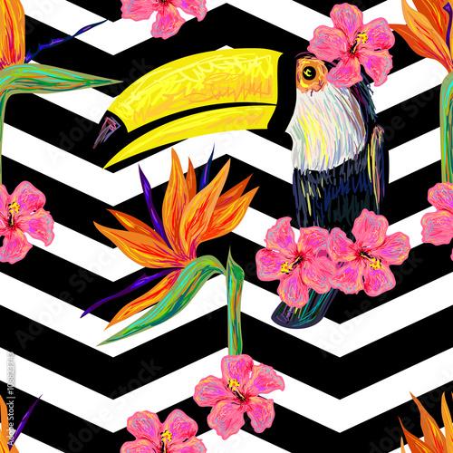 tukan-i-kwiaty