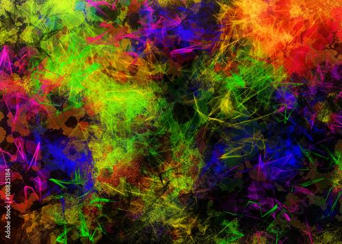 Fototapeta Kolorowe dynamiczne tło obraz