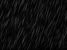 Rain On Black. Vector Rain Tex...