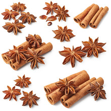 Set Of Cinnamon And Star Anise
