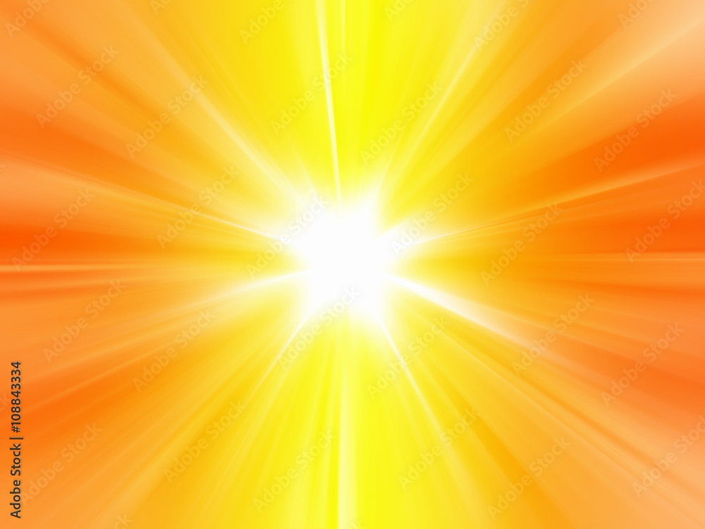 Fototapety, obrazy: Orange sunbeam burst of light