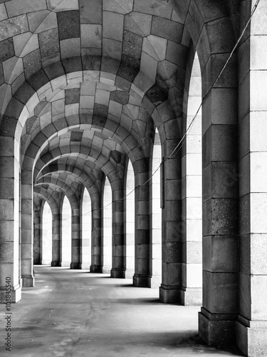 Photo  The arched stone colonnade