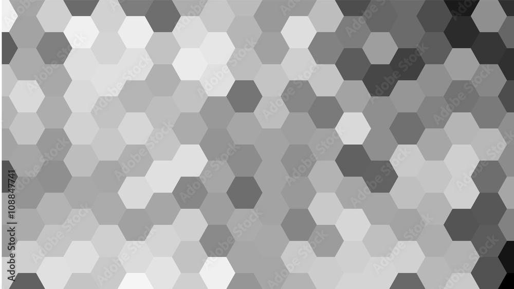 Fototapeta Grey geometric hexagon pattern without contour.