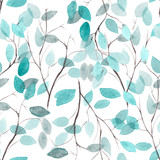 Watercolor seamless floral pattern. Flowers texture. - 108849185