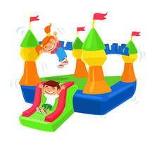 Inflatable Castle Trampoline. ...