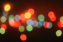 De Focused Abstract Background Of Colorful Night Lights