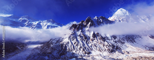 Canvas Prints Dark blue Kanchenjunga region