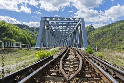 Staande foto Afrika Metal railroad bridge - Entrance view