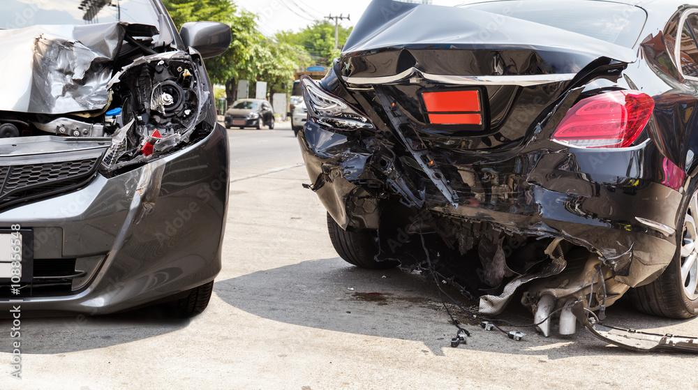 Car crash accident - obrazy, fototapety, plakaty