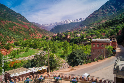 Papiers peints Maroc Ourika Valley Morocco. / Ourika Valley is just 30km away from Marrakesh, beautiful unspoiled nature under the mountain of Atlas.
