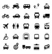 Set of transportation icons. Vector elements