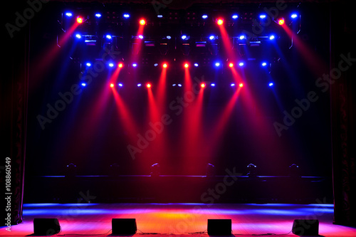 Fotografie, Tablou Free stage with lights