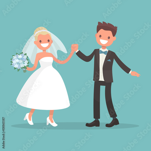 Dance Of The Bride And Groom Characters For Wedding Invitations