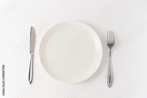 Fotografía  シンプルな皿と食器のイメージ