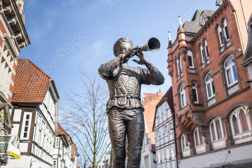 Canvas Prints Historic monument rat catcher statue hameln germany