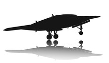 Drone Take Off. Vector Silhoue...