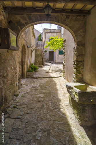 Fotografie, Obraz  Traditional Sicilian yards in medieval city of Erice