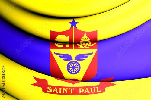 Photo  Flag of Saint Paul, Minnesota, USA.