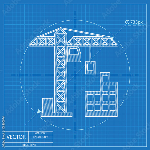Building construction icon blueprint style buy this stock vector building construction icon blueprint style malvernweather Gallery