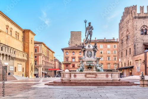 Fotografie, Obraz  Piazza del Nettuno náměstí v Bologna, Itálie