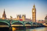 Fototapeta Big Ben - Big Ben and westminster bridge in London
