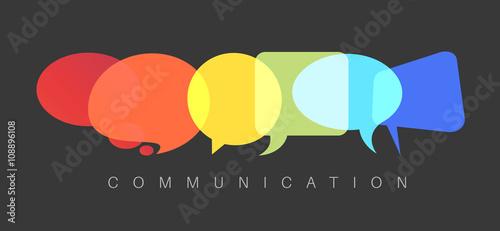 Fotografía  Vector abstract Communication concept illustration