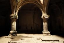 Ancient Monastery Geghard In Armenia