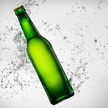 Beer Bottle Under Water