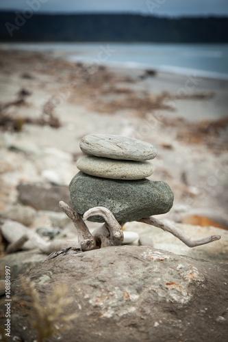 Photo sur Plexiglas Zen pierres a sable Wilde Westküste der neuseeländischen Südinsel