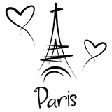 Fototapeta Paryż - Paryż - Wieża Eiffla - panorama