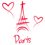 Fototapeta Fototapety Paryż - Wieża Eiffla - Paryż
