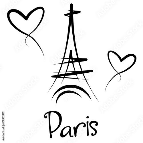 Fototapeta Paryż - Wieża Eiffla - panorama obraz
