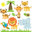 Jungle animal vector illustration