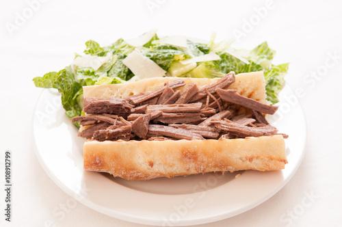 Staande foto Snack beef brisket sandwich