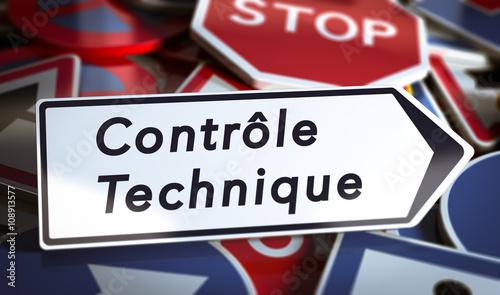 Controle technique automobile ou moto Canvas Print