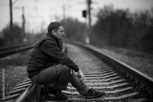 Fotografie, Obraz  alone man