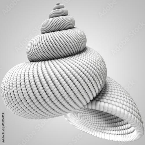 Fotografie, Obraz  3D illustration of shell object