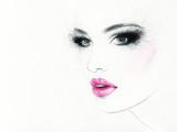 piękna twarz kobiety. kolorowy makijaż. streszczenie akwarela. ilustracja moda - 108928972