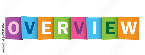 Fotografie, Obraz OVERVIEW vector letters icon