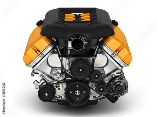 Photo  Automotive engine.3D illustration.