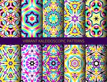 Bright Kaleidoscopic Patterns ...