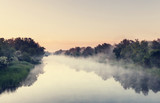 Fog on the river - 108934955