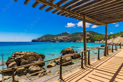 Fotografie, Obraz  Beautiful view of Camp de Mar Majorca Beach Bay