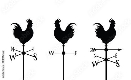 Photo black cockerel silhouette