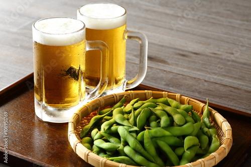 Fotografía  ビールと枝豆