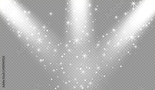 Foto op Canvas Licht, schaduw Spotlights scene light effects. Vector illustration