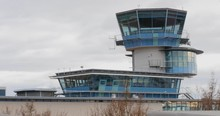 4k Old Airport Tower Control B...
